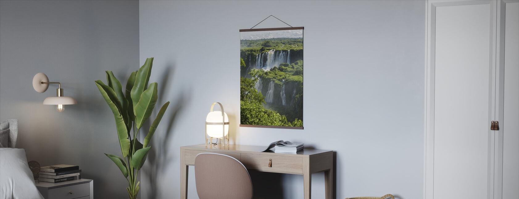 Iguazu Waterfall Through Trees - Poster - Office
