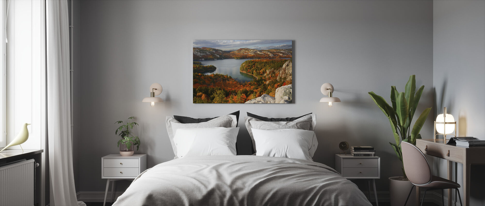 Pudota Killarney Lake - Canvastaulu - Makuuhuone