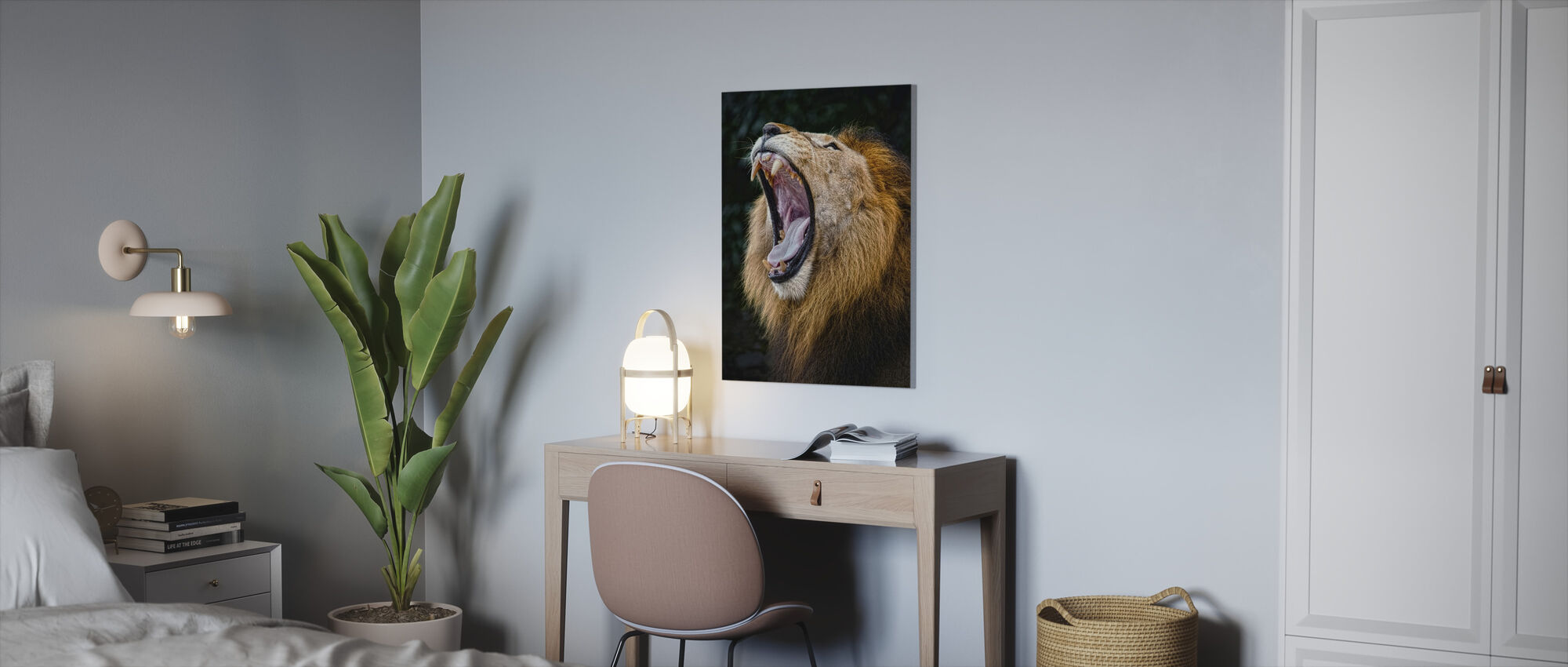 African Lion - Canvas print - Office
