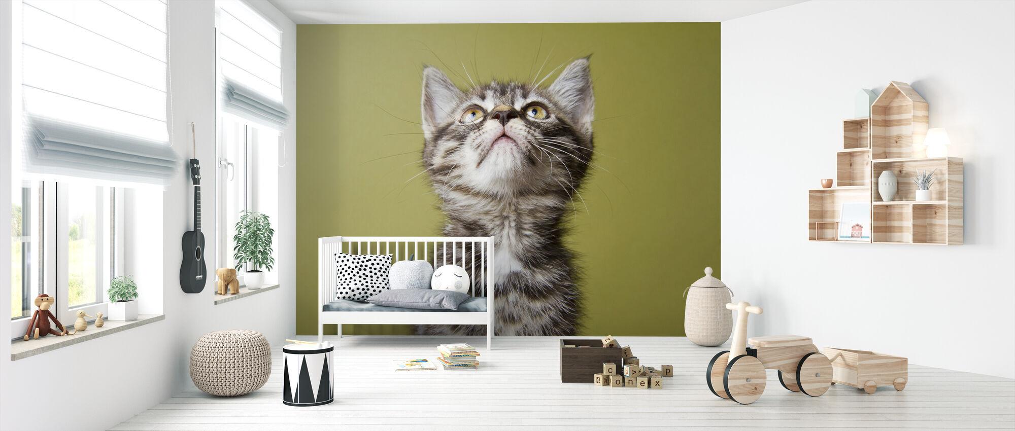 Benieuwd Kitten - Behang - Babykamer