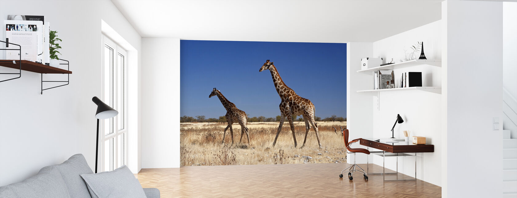 Giraffes at Etosha National Park - Wallpaper - Office