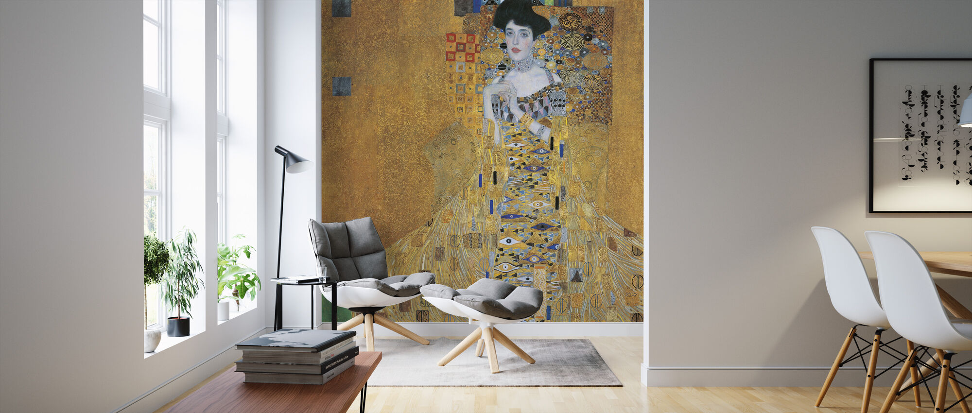 Klimt, Gustav - Adele Bloch-Bauer I - Wallpaper - Living Room