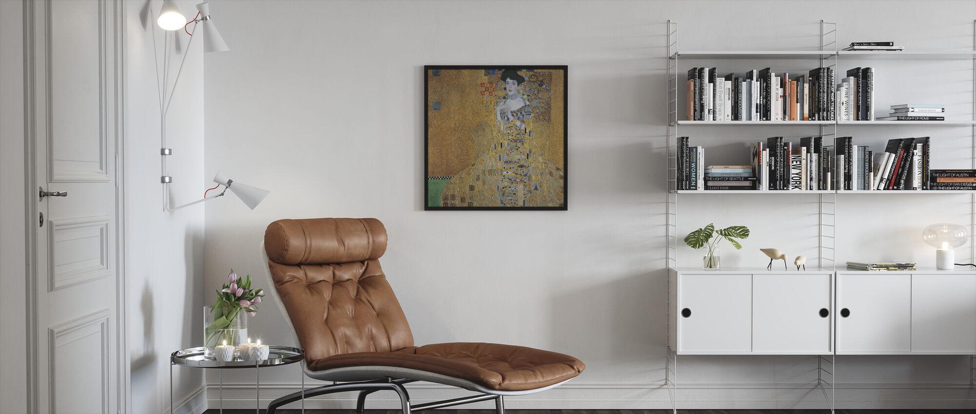 Klimt, Gustav - Adele Bloch-Bauer I - Ingelijste print - Woonkamer