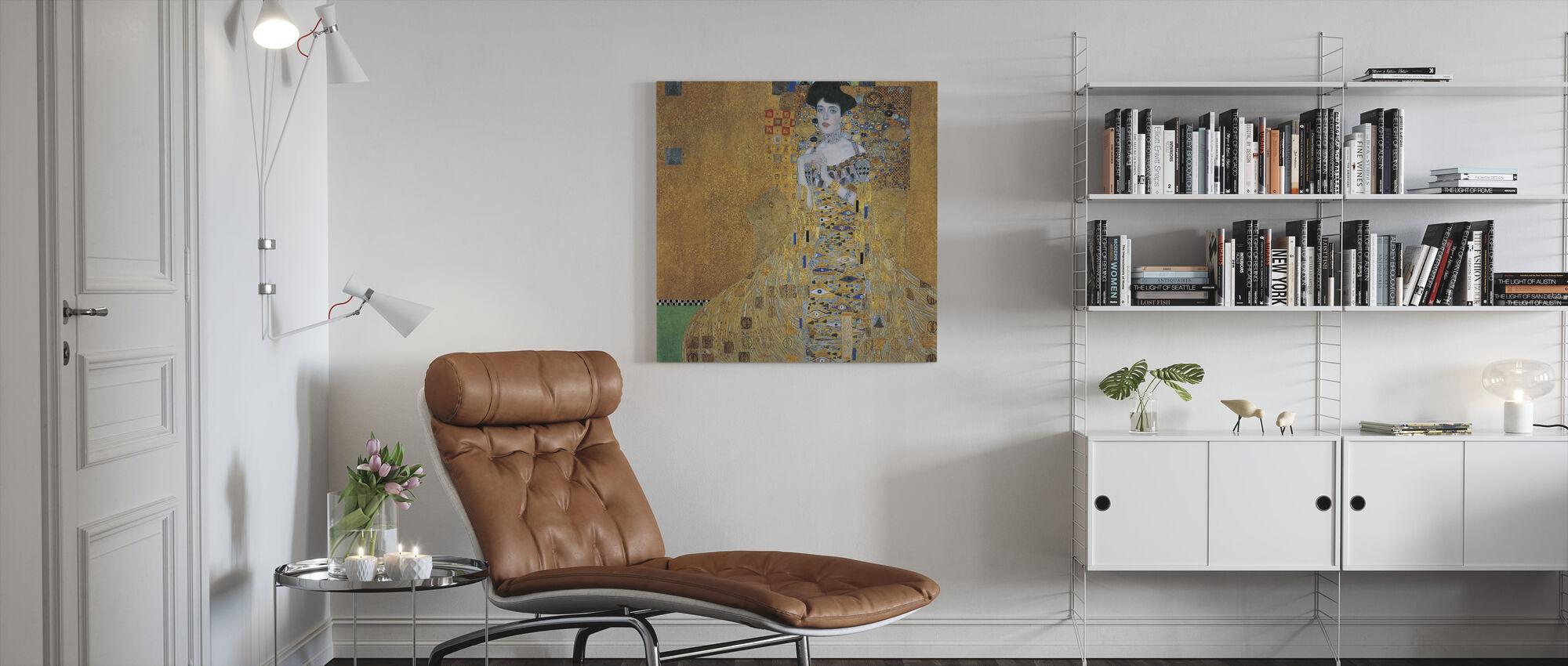 Klimt, Gustav - Adele Bloch-Bauer I - Canvas print - Woonkamer