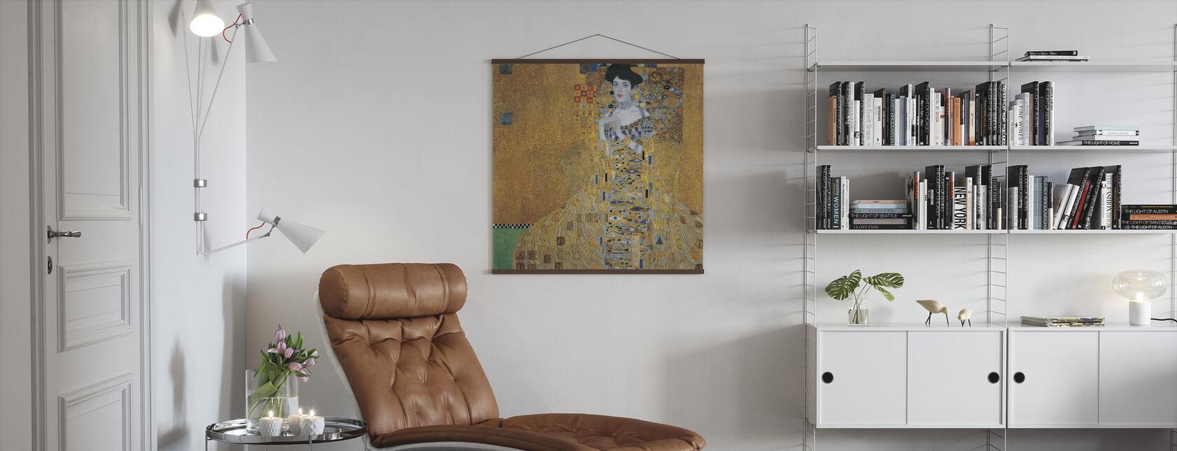 Klimt, Gustav - Adele Bloch-Bauer I - Poster - Woonkamer