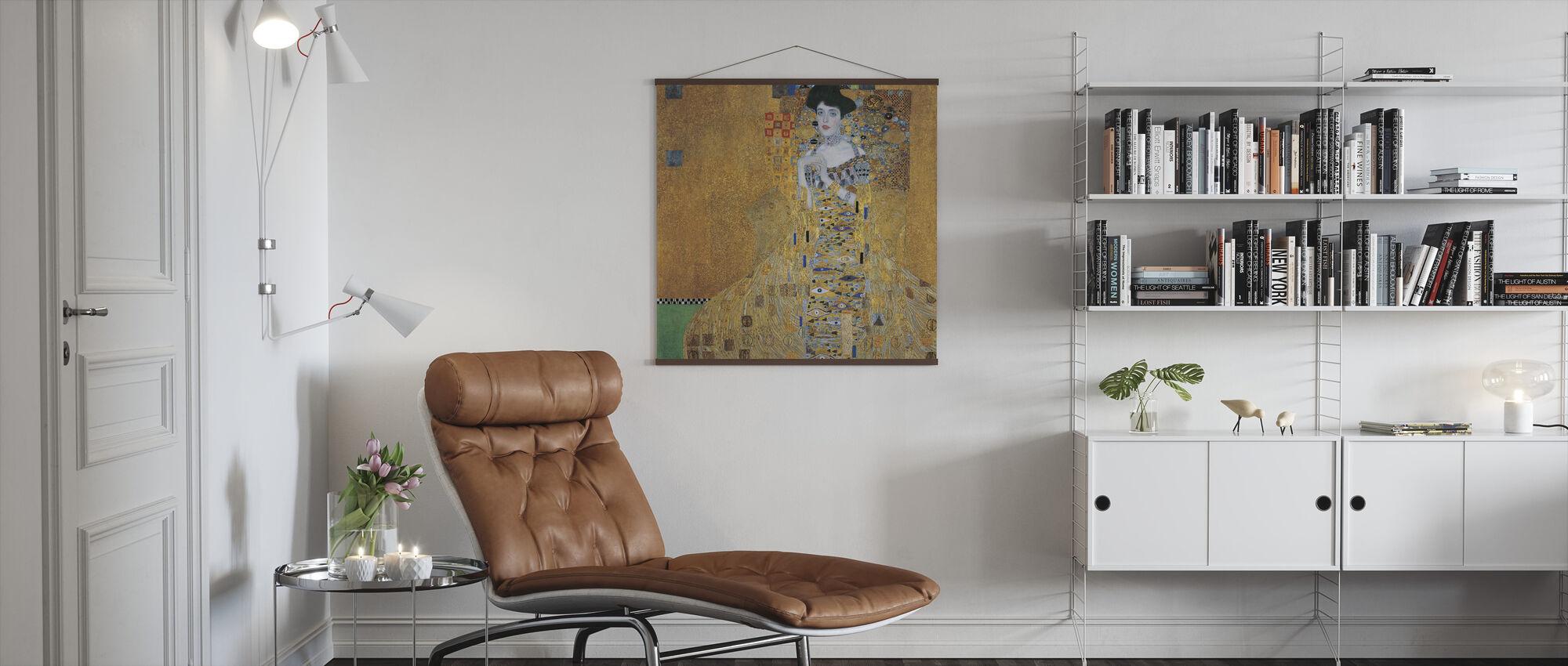 Klimt, Gustaw - Adele Bloch-Bauer I - Plakat - Pokój dzienny