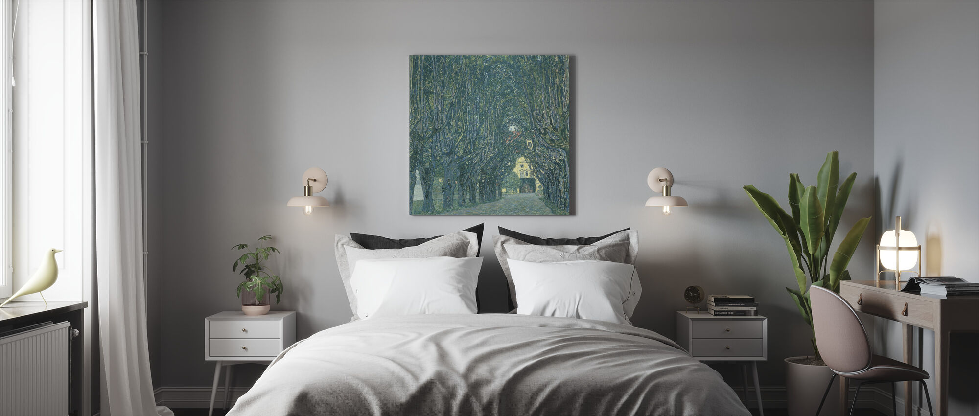 Avenue in front of Kammer Castle - Canvas print - Bedroom