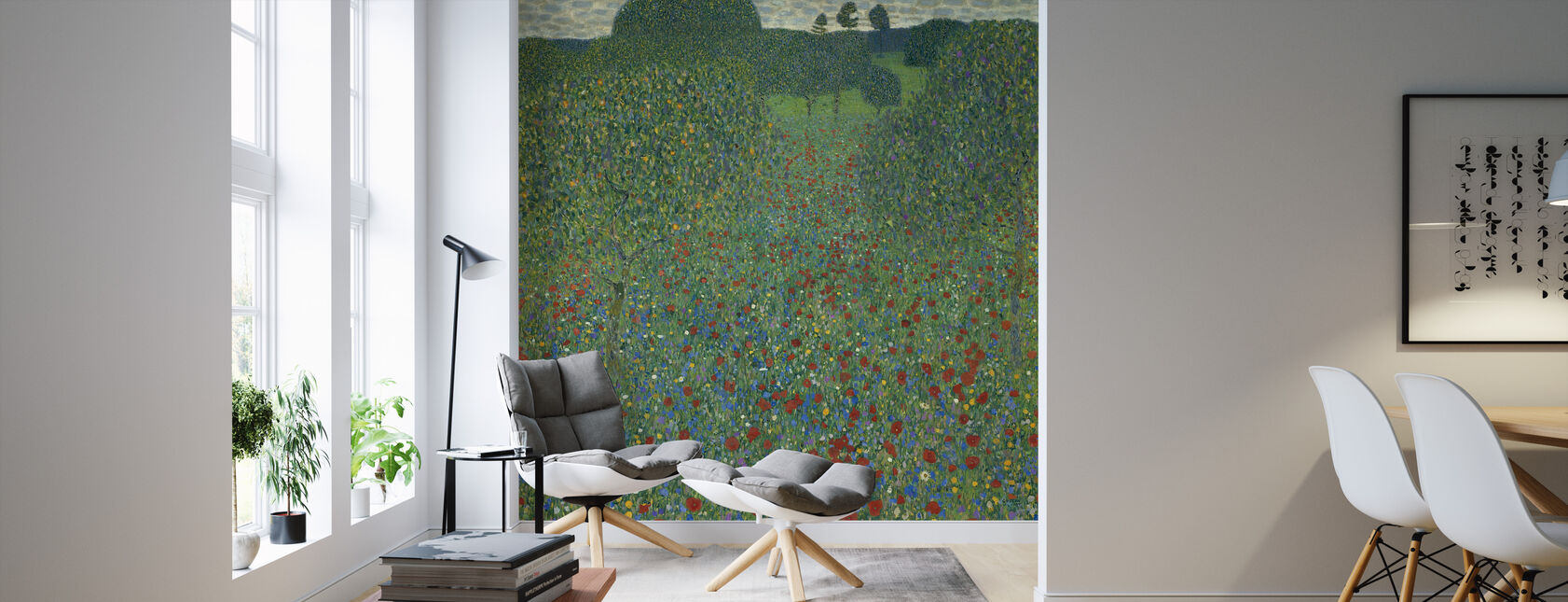 Klimt, Gustav - Field of Poppies - Wallpaper - Living Room