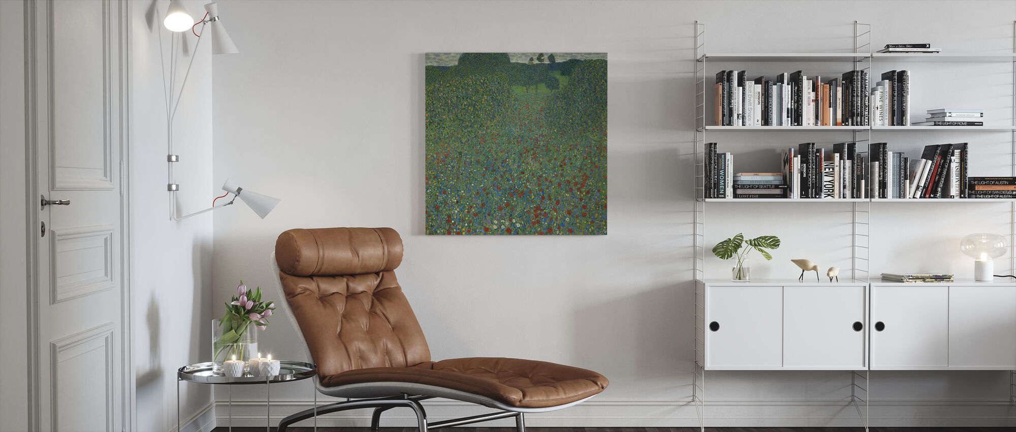 Klimt, Gustav - Field of Poppies - Canvas print - Living Room
