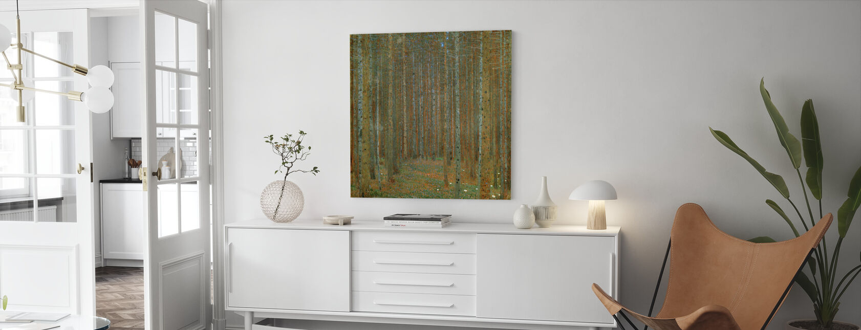 Klimt, Gustav - Fir Forest I - Canvas print - Living Room