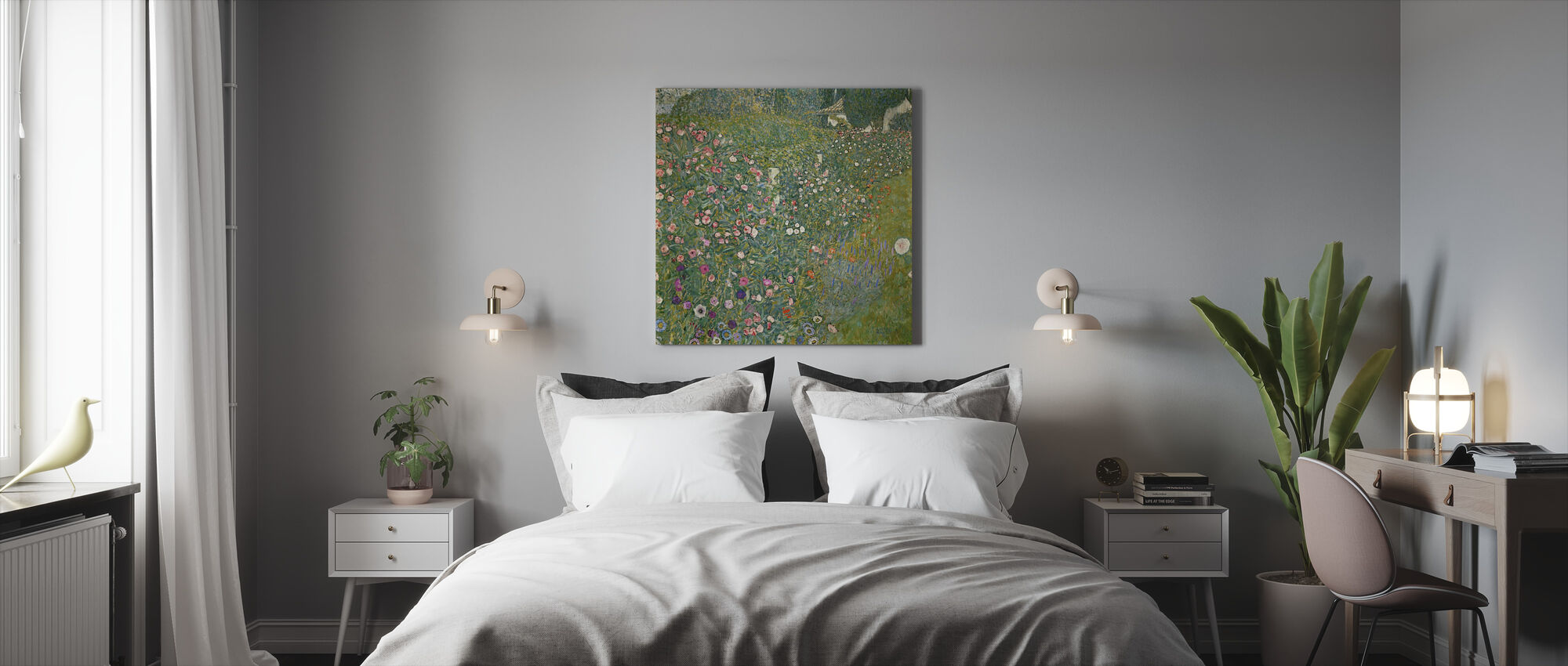 Klimt, Gustav - Italiensk have landskab - Billede på lærred - Soveværelse