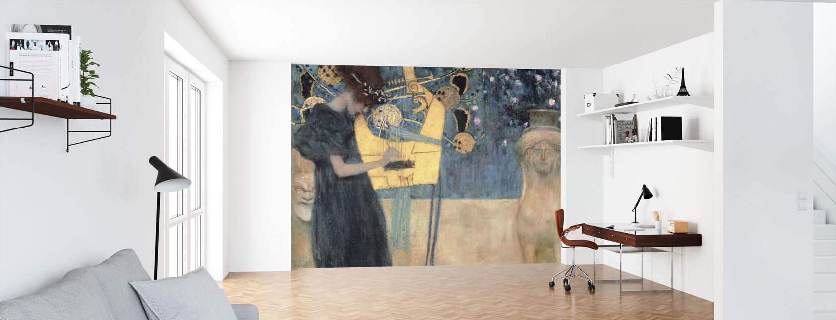 Klimt, Gustav - Music - Wallpaper - Office