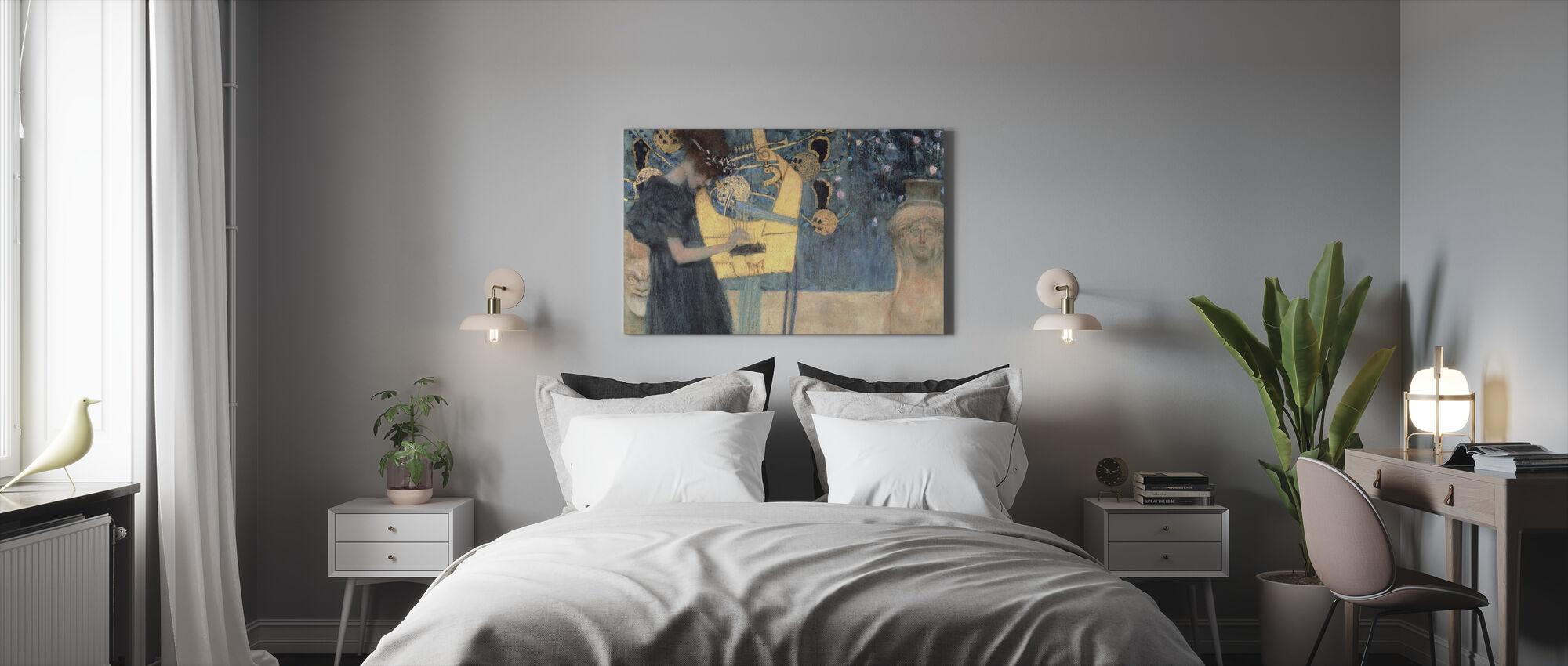 Klimt, Gustav - Musikk - Lerretsbilde - Soverom
