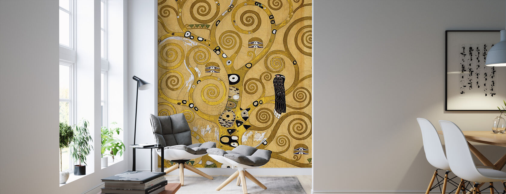 Klimt, Gustav - The Tree of Life - Wallpaper - Living Room