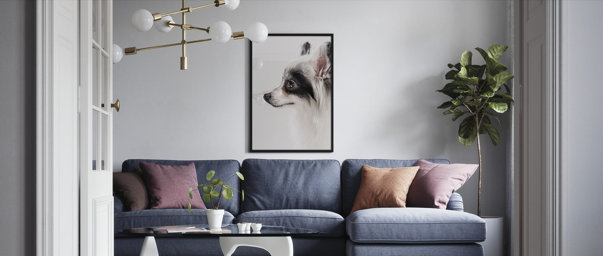 Pomeranian Dog - Framed print - Living Room