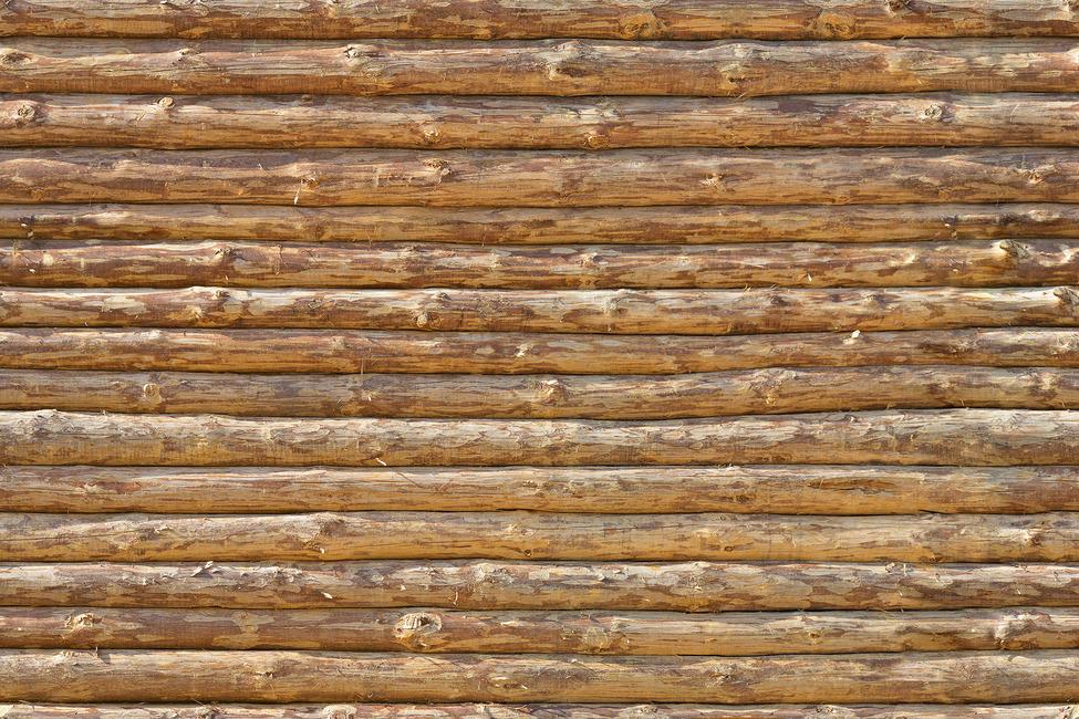 Wooden Logs Wall Fototapeter & Tapeter 100 x 100 cm