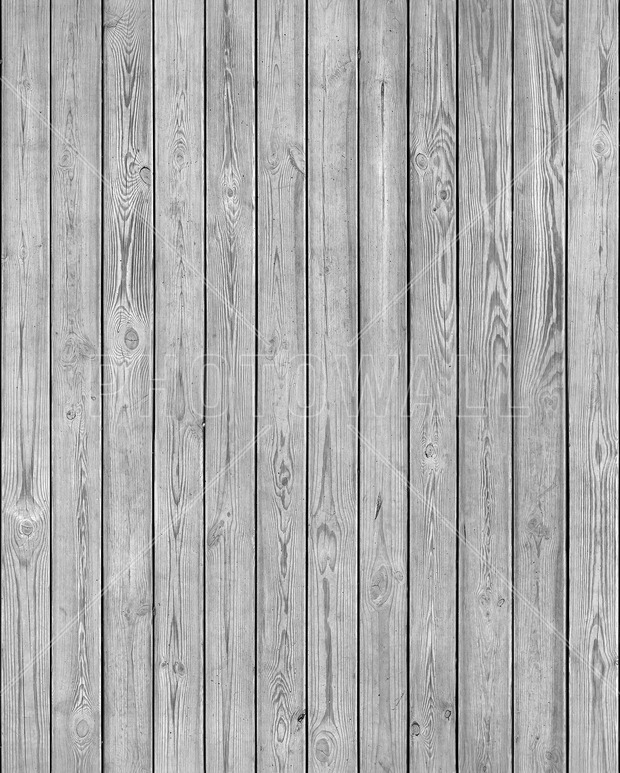 Wooden Plank Wall - Grey