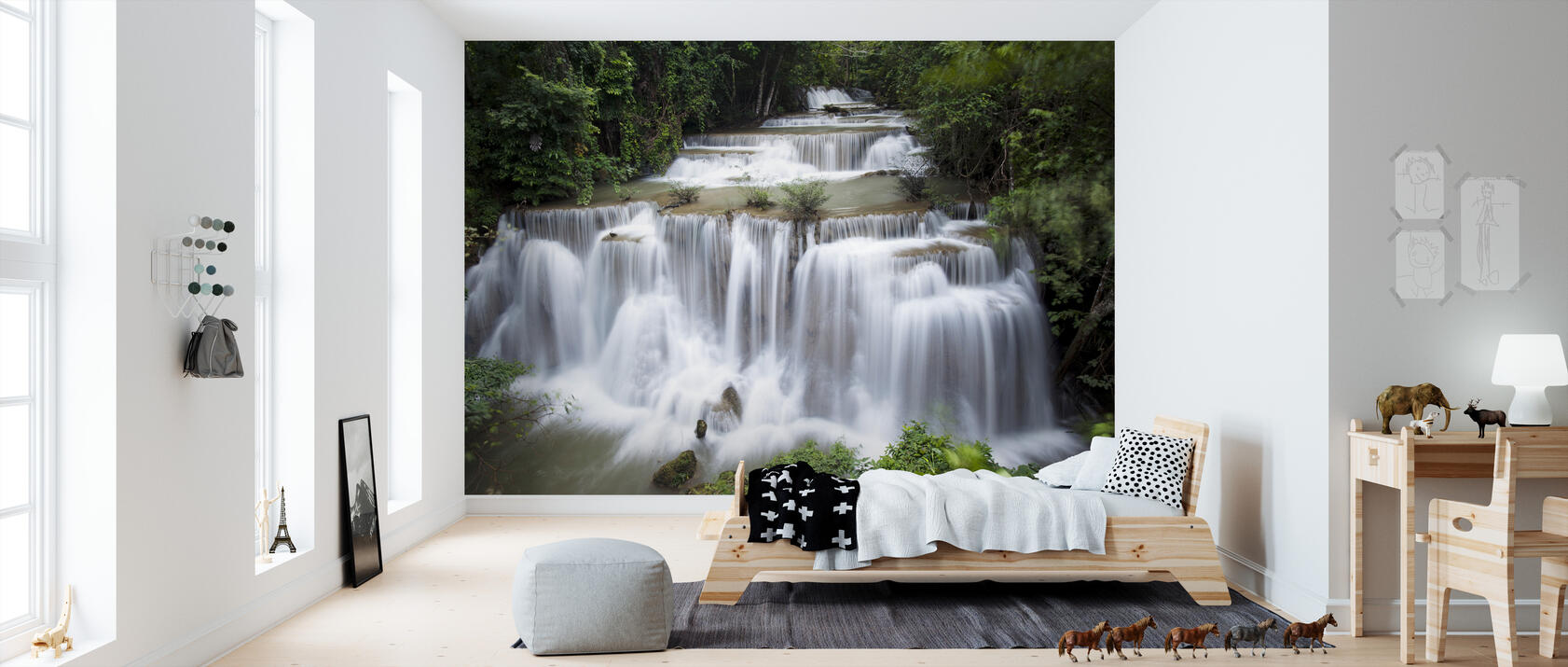 Huay Mae Khamin Waterfall Thailand Trendy Wall Mural