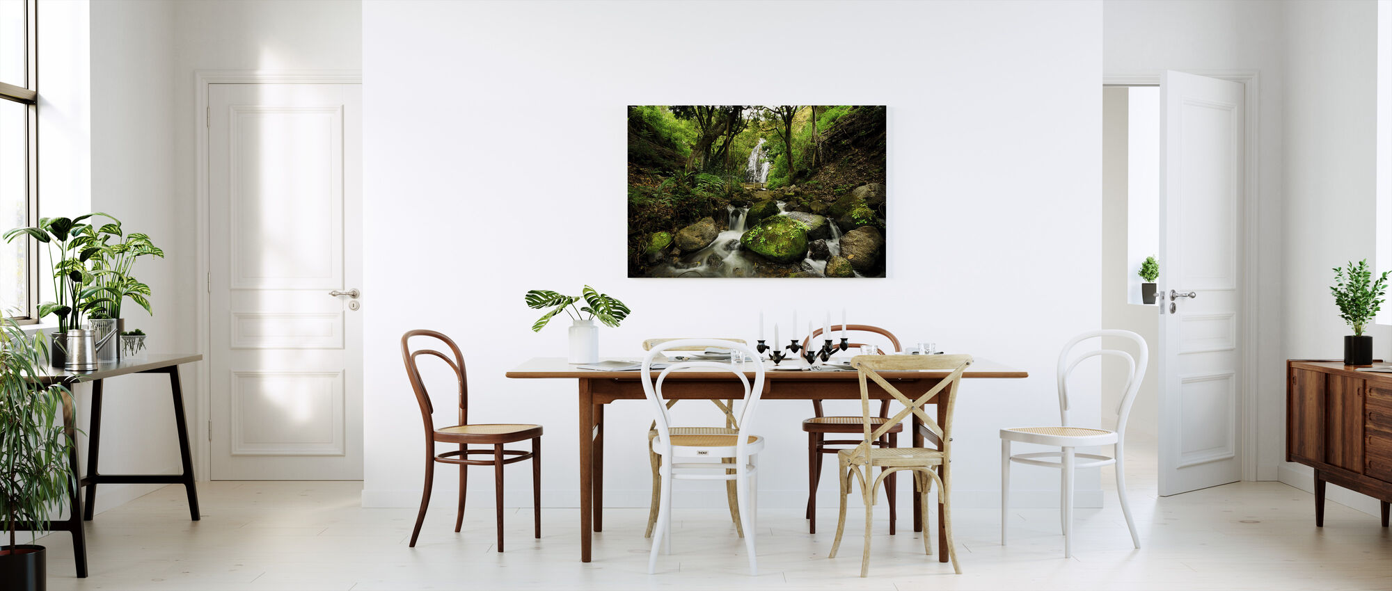 Peaceful Forest Waterfall - Canvas print - Kitchen