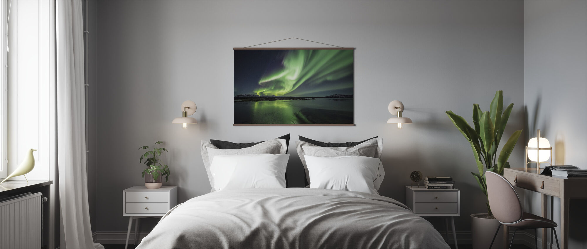 Enchanting Aurora Borealis - Poster - Bedroom