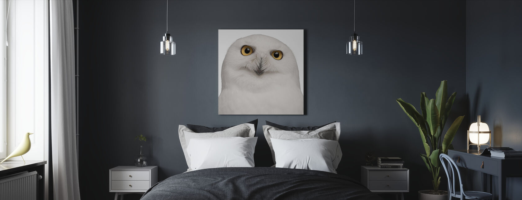 Snowy Owl - Canvas print - Bedroom