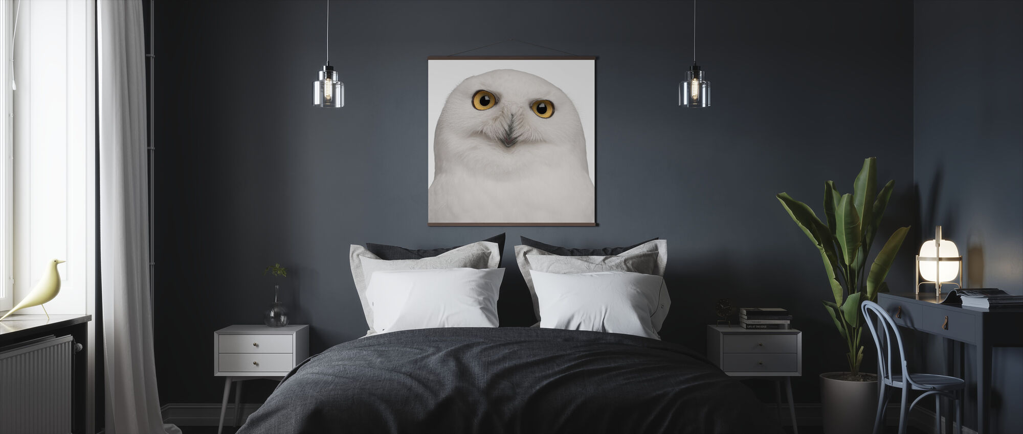 Luminen pöllö - Juliste - Makuuhuone