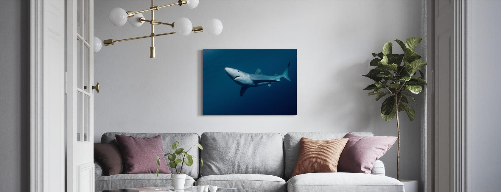 Blauer Hai - Leinwandbild - Wohnzimmer