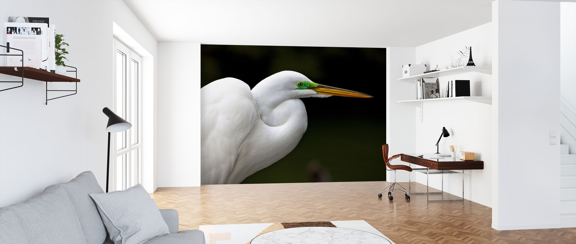 Great White Egret - Wallpaper - Office