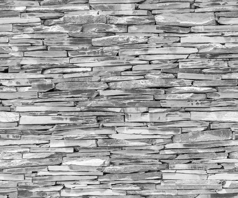 Stone Wall - Granite Fototapeter & Tapeter 100 x 100 cm