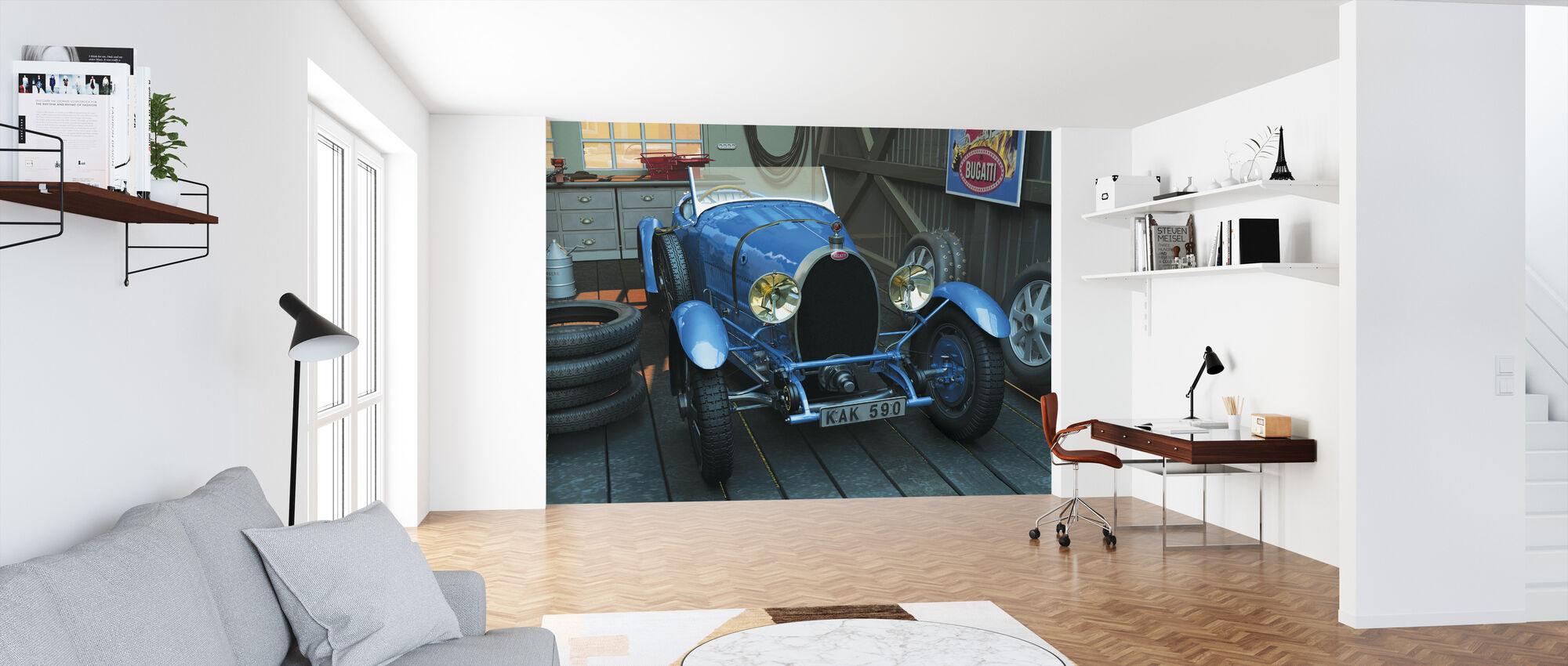 Bil i garasjen - Tapet - Kontor