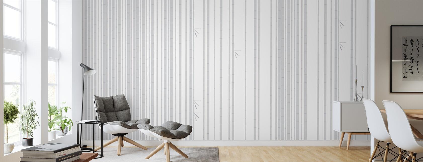 Bambu Forest Gris - Papel pintado - Salón