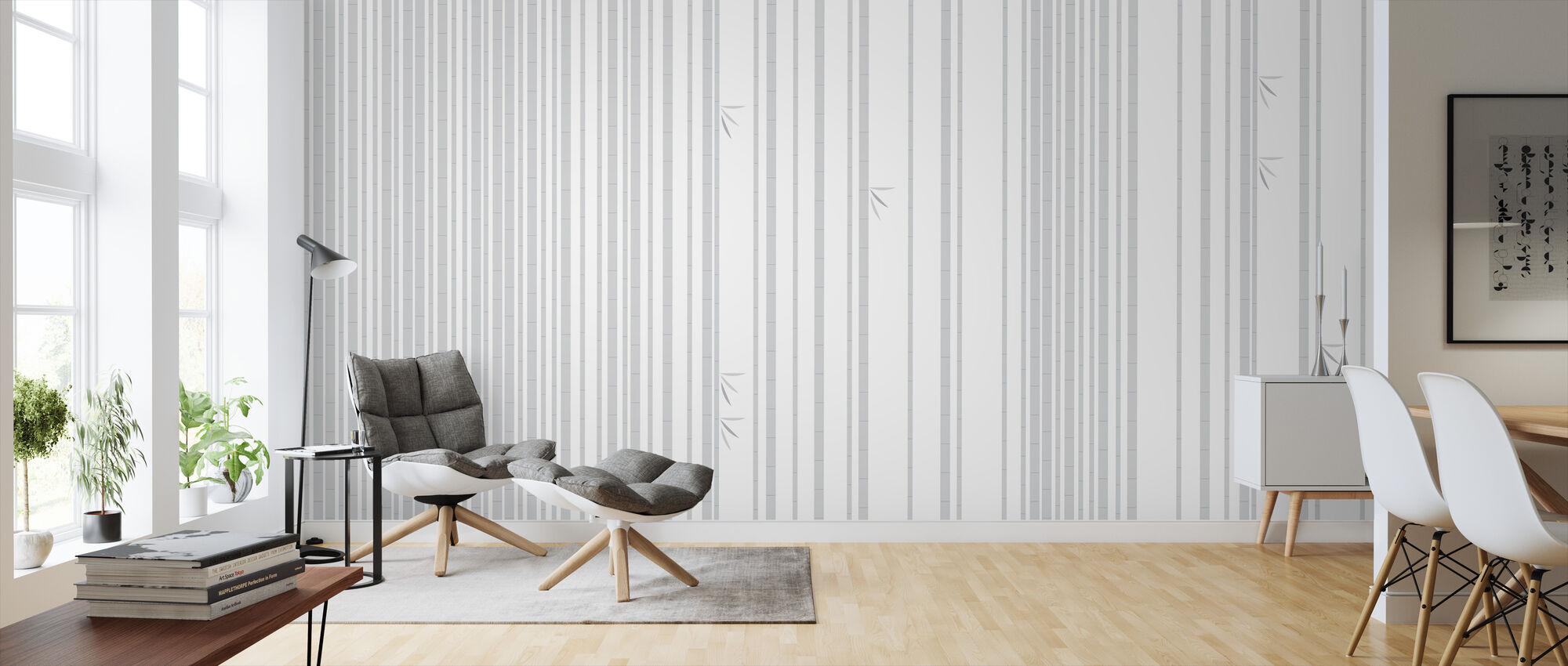 Bambu Forest Grey - Wallpaper - Living Room