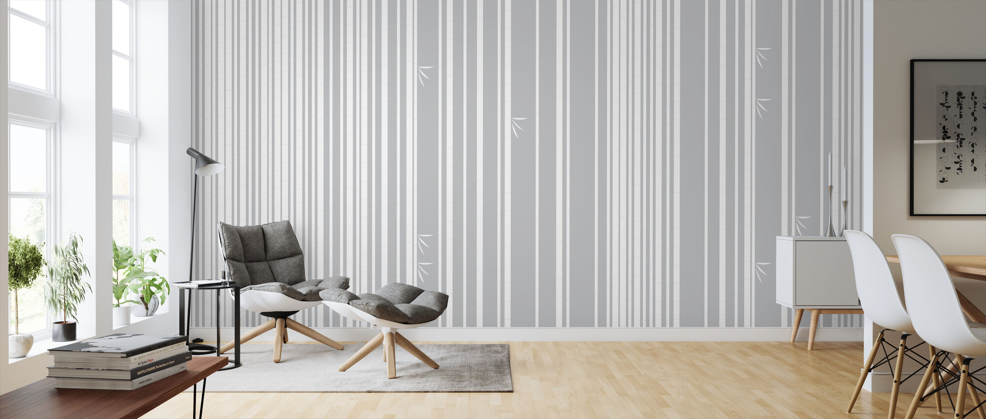 Bambu Forest White - Wallpaper - Living Room