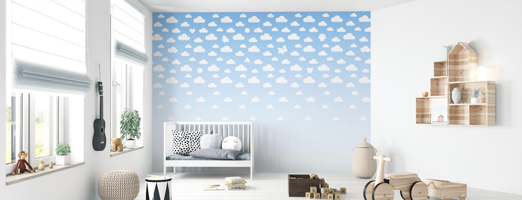 Cloudspotting Blå - Tapet - Babyværelse