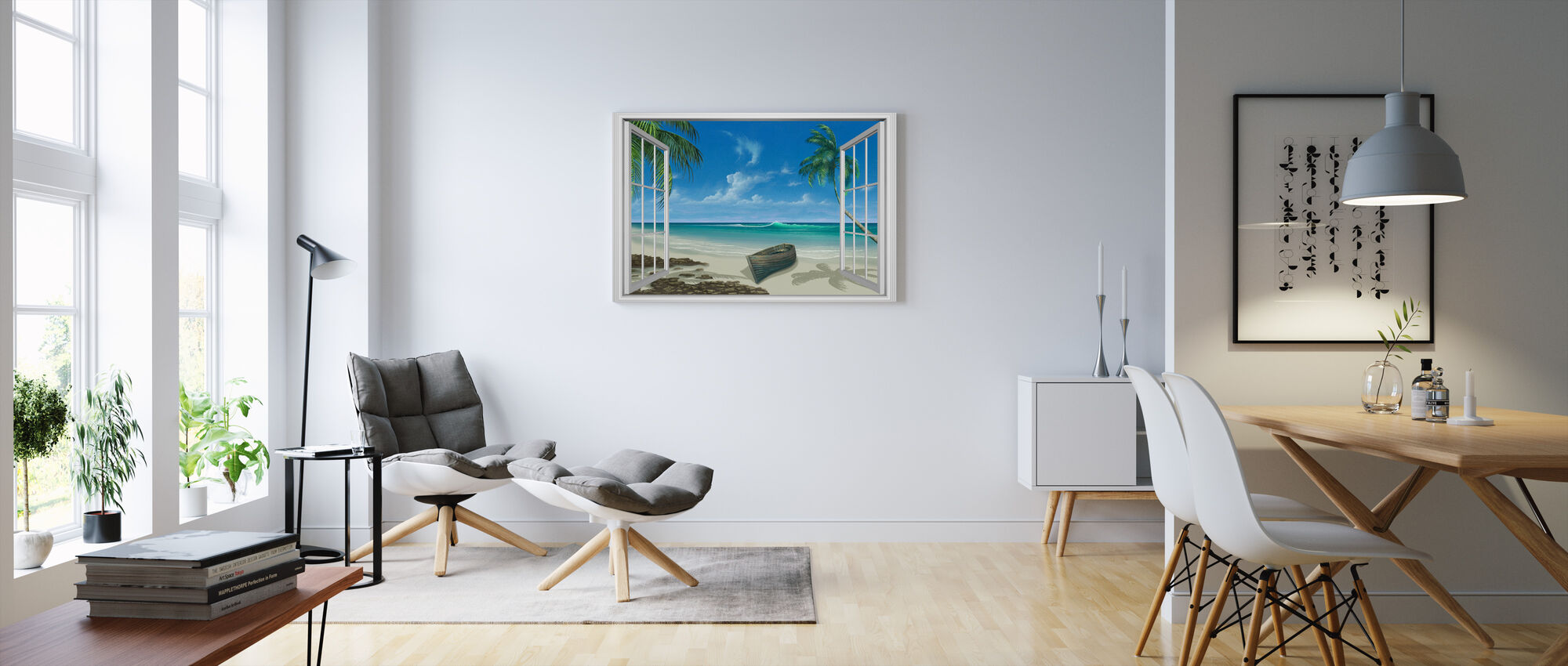 Flykten till paradiset - Canvastavla - Vardagsrum