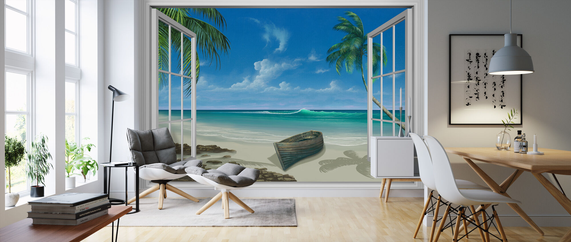 Escape to Paradise - Wallpaper - Living Room