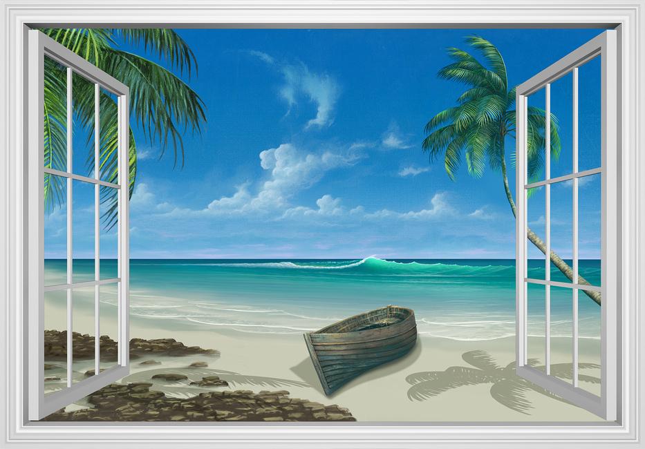 Kuva Escape to Paradise Tapetit / tapetti 100 x 100 cm