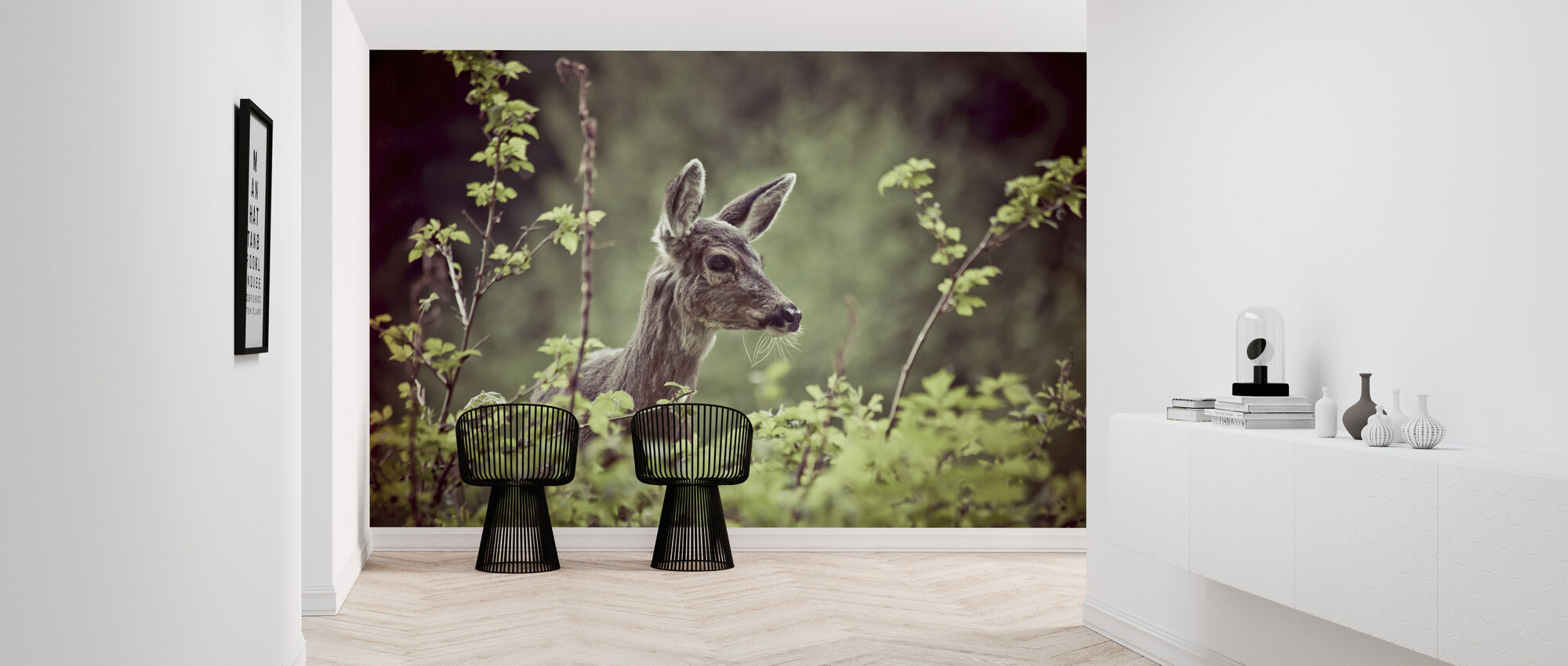 Deer in Forest - Wallpaper - Hallway