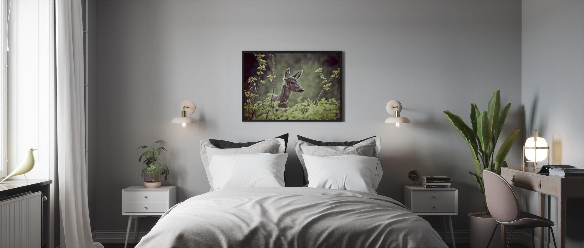 Deer in Forest - Framed print - Bedroom