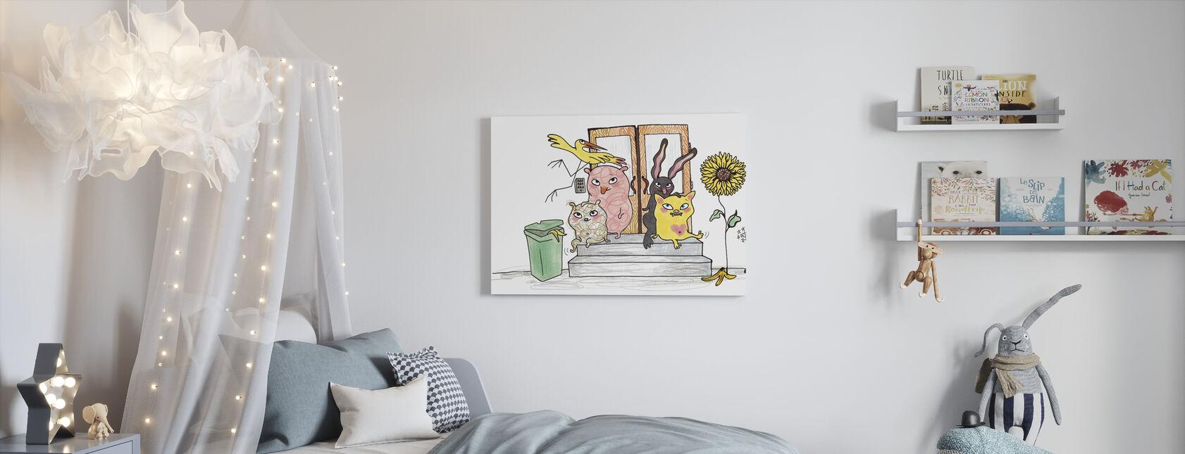 Wie woont hier? - Canvas print - Kinderkamer