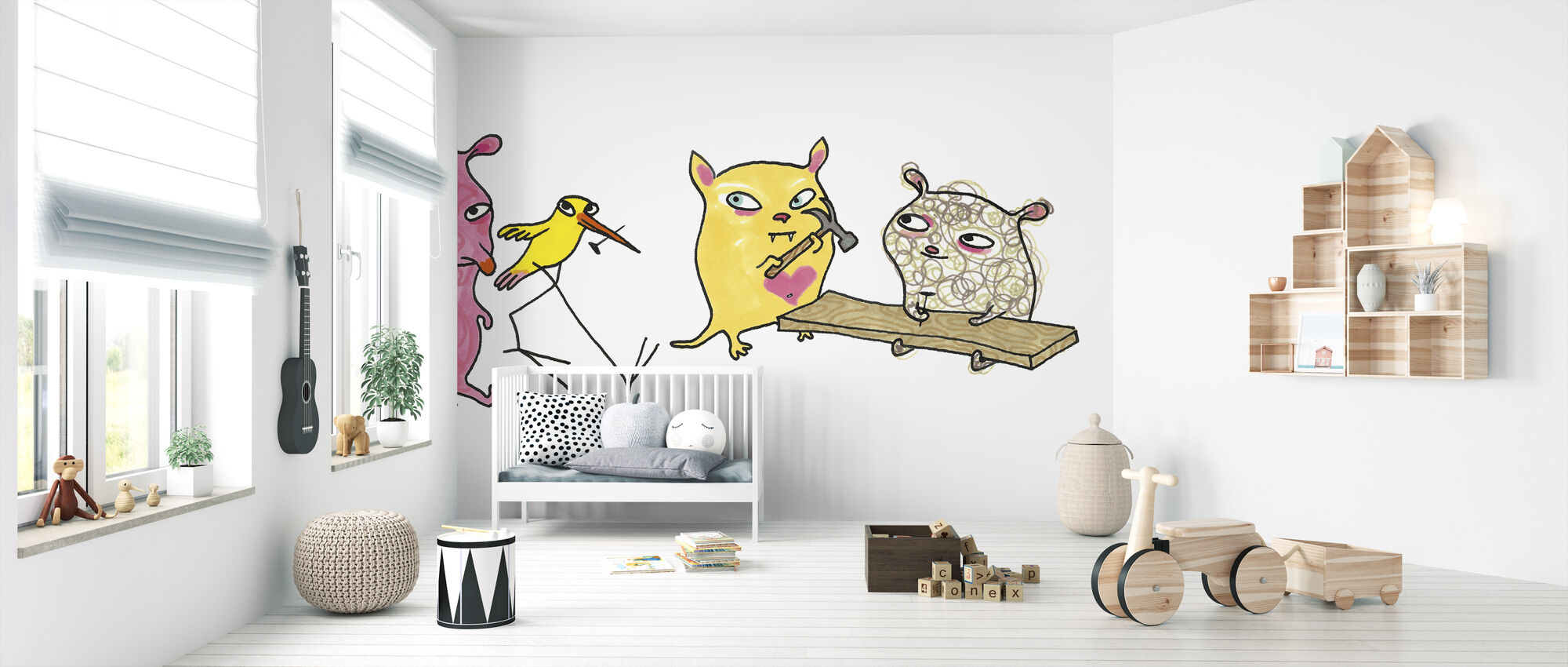 Vem spikar - Wallpaper - Nursery