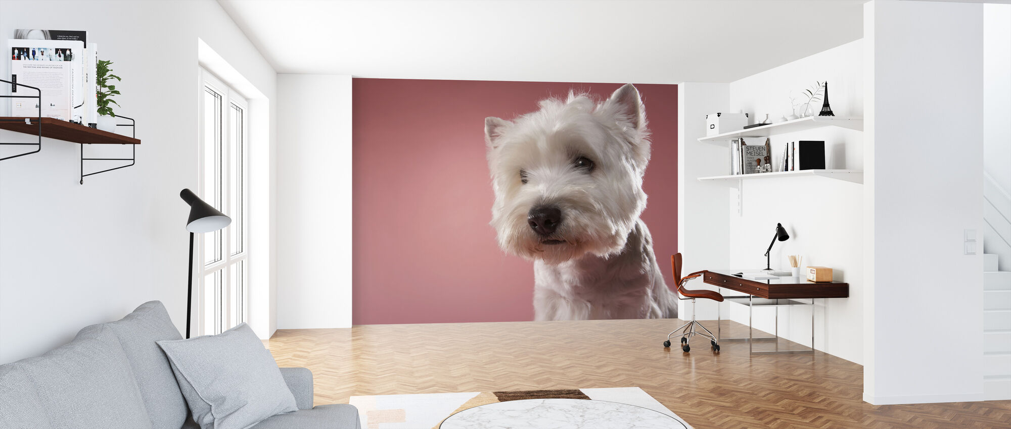 West Highland Terrier - Wallpaper - Office