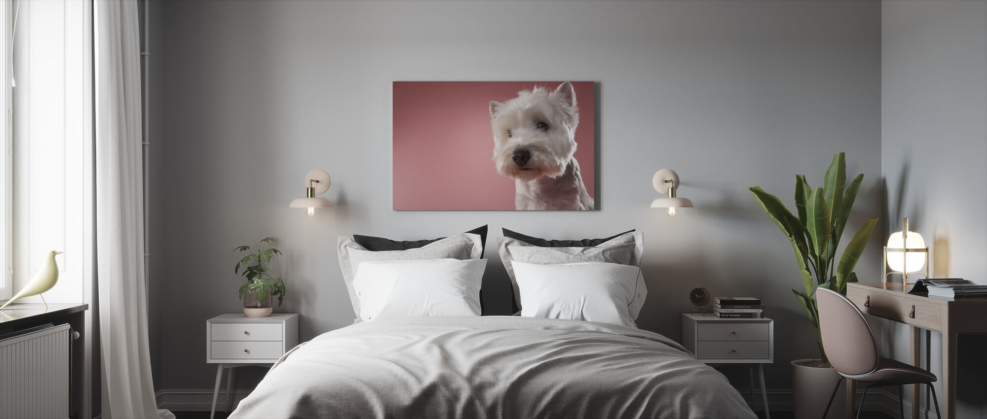 West Highland Terrier - Canvas print - Bedroom