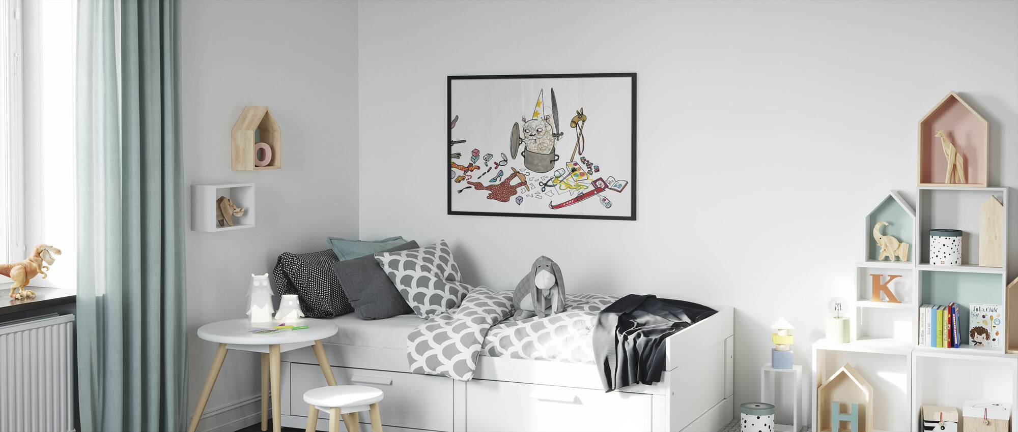 Who does not clean - Framed print - Kids Room