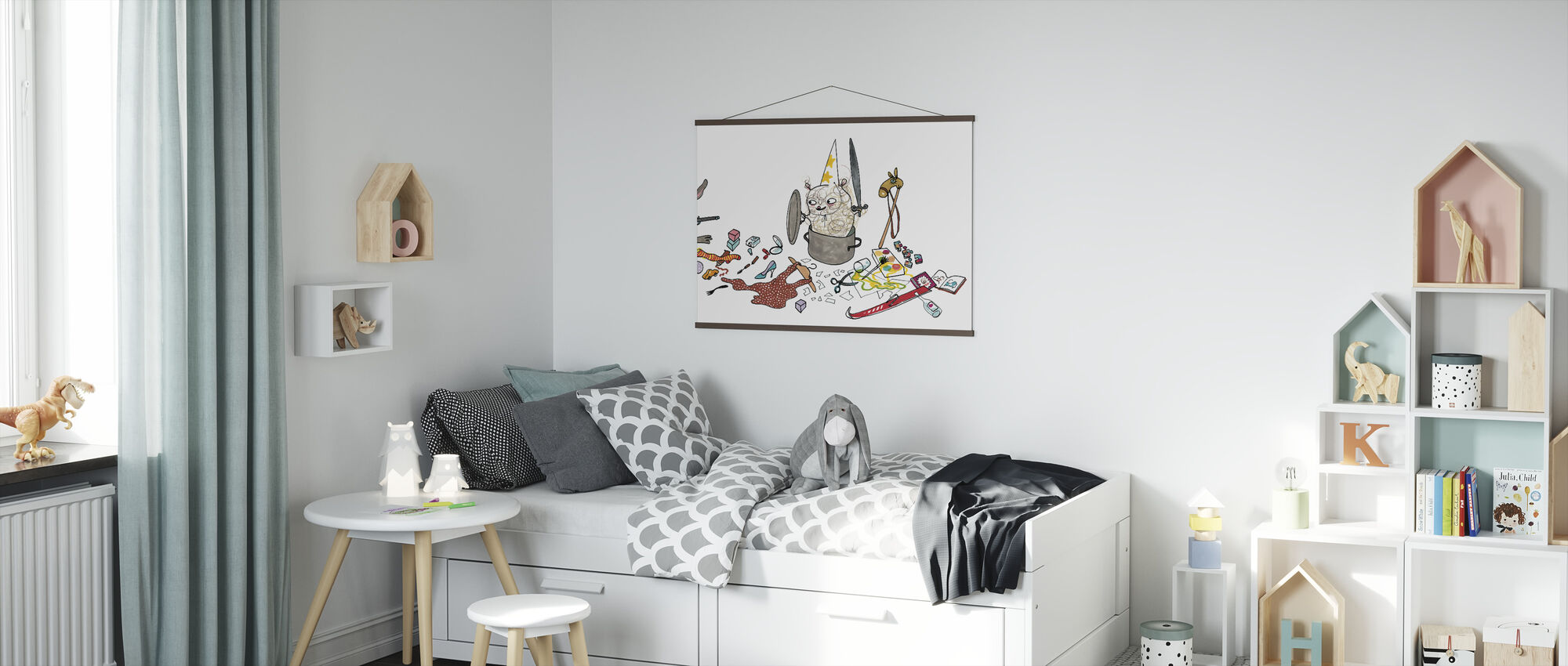 Who does not clean - Poster - Kids Room