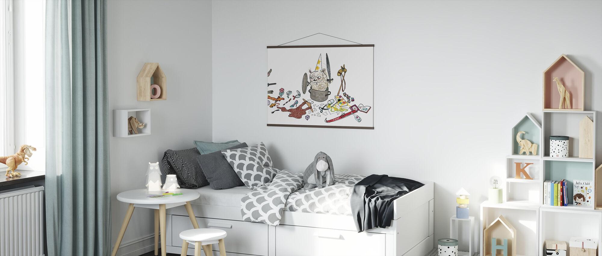 Wie maakt niet schoon - Poster - Kinderkamer