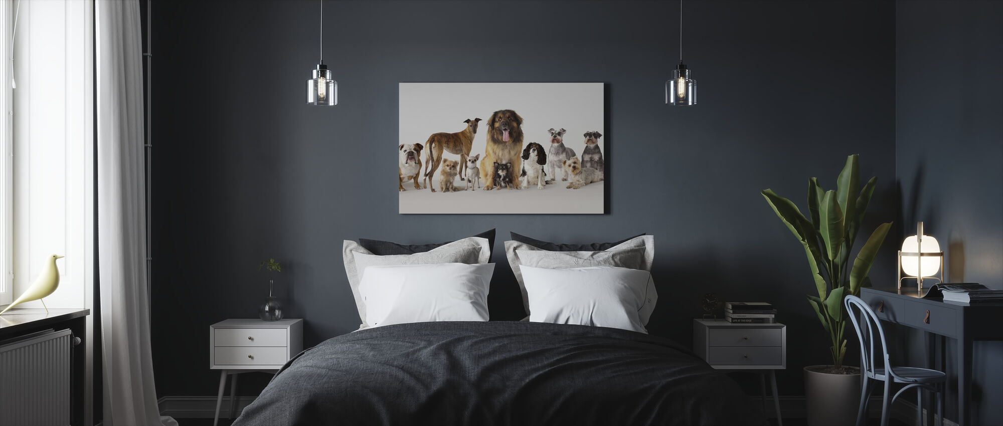Group Portrait of Dogs - Canvas print - Bedroom