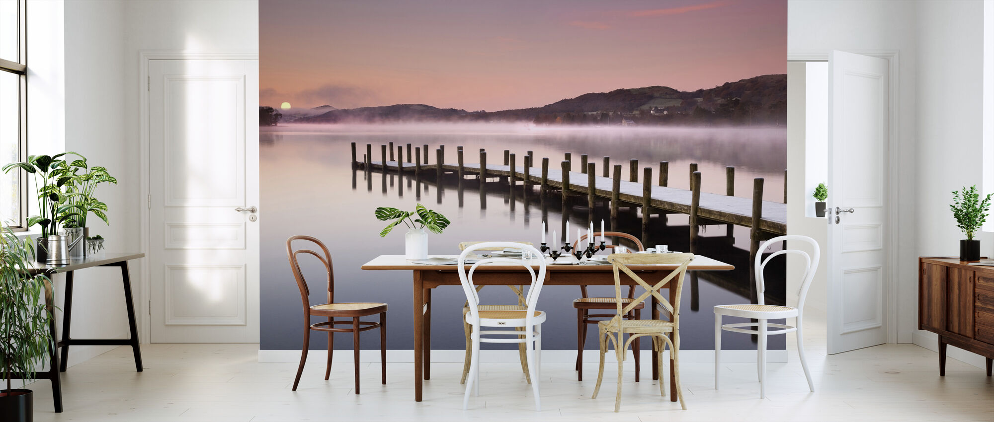 Landing Jetty on Coniston Water - Wallpaper - Kitchen