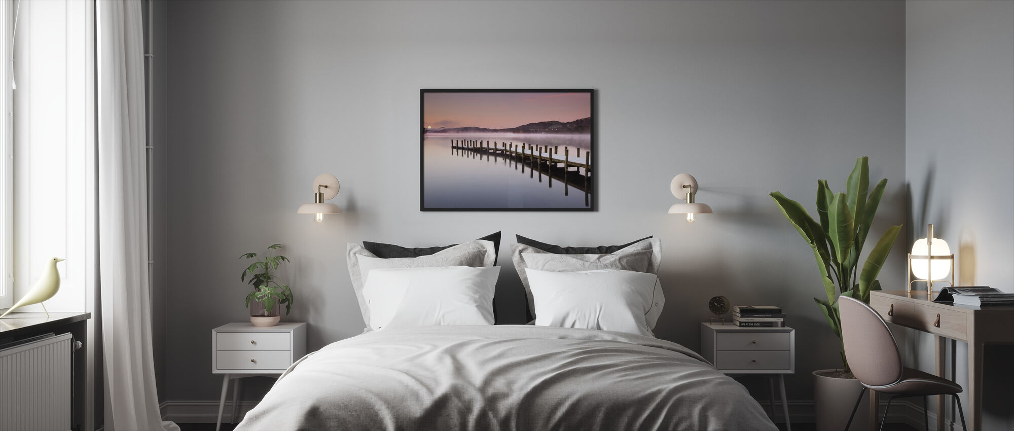 Landing Jetty on Coniston Water - Framed print - Bedroom