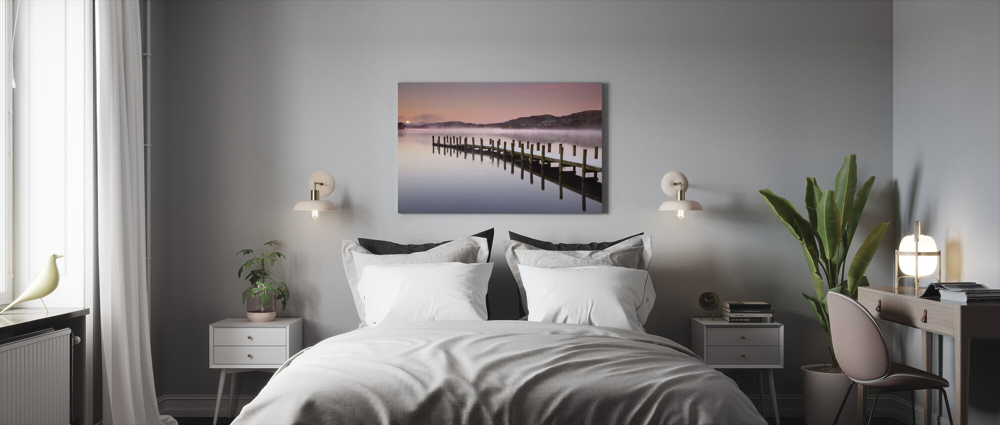 Landing Jetty on Coniston Water - Canvas print - Bedroom